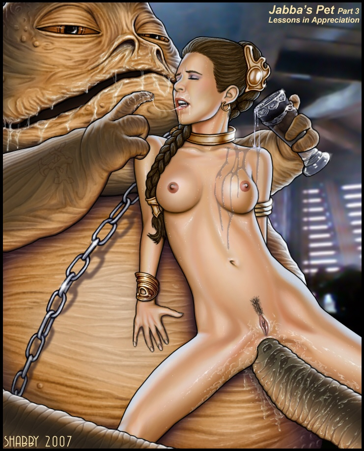 and jabba leia Rick and morty interstellar stripper