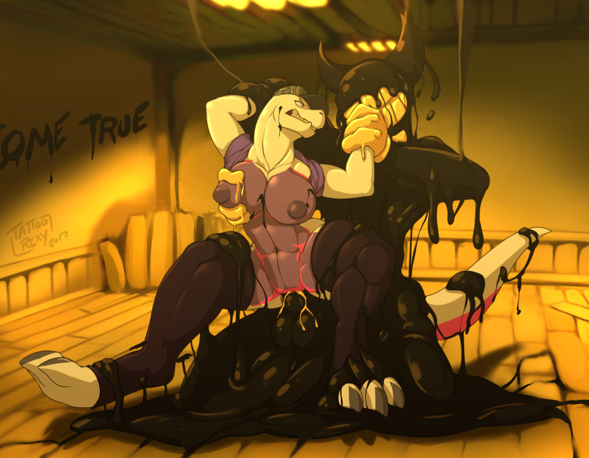 the machine ink bendy hentia and Human on furry porn comic