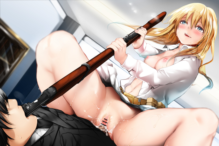 girls frontline sr-3mp Girls with a strap on