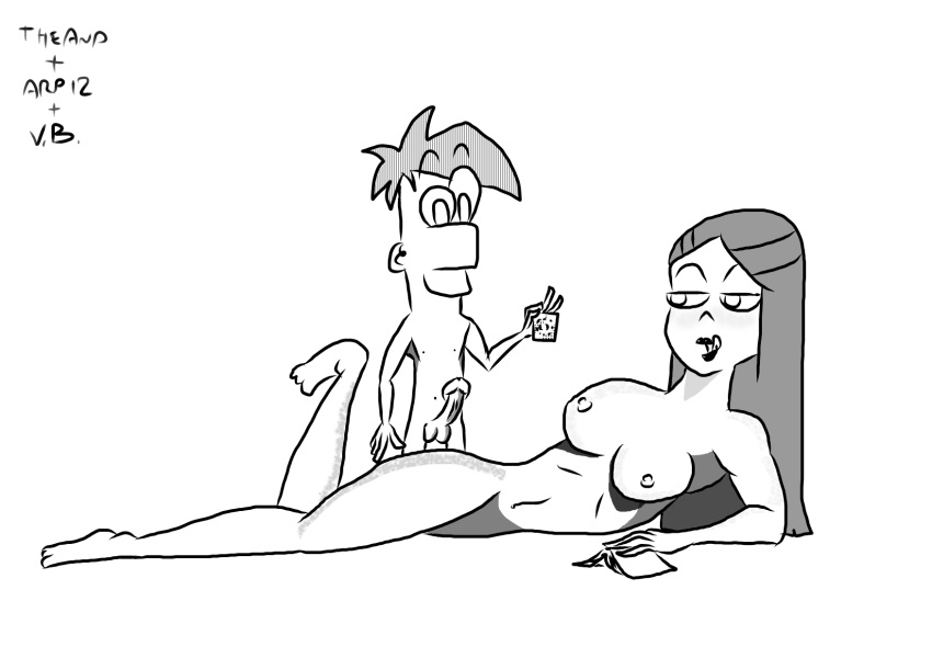 and phineas from ferb vanessa Reverse cowgirl in a chair