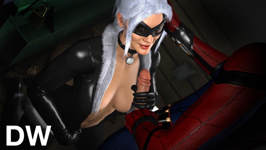 porn black spider-man cat Mesu_kyoushi_4