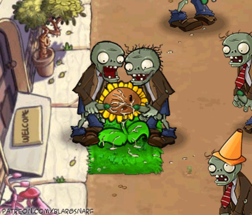 dibujos vs de plantas zombies Rick and morty a way home